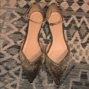 Sparkly Pointed Toe JCrew Flats